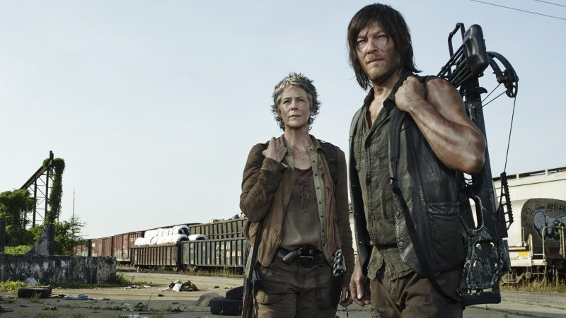 Melissa McBride as Carol Peletier and Norman Reedus as Daryl Dixon - The Walking Dead _ Season 5, Gallery - Photo Credit: Frank Ockenfels 3/AMC