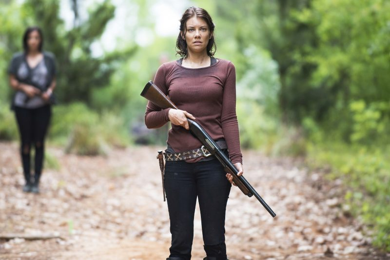 TV STILL -- Alanna Masterson as Tara Chambler and Lauren Cohan as Maggie Greene - The Walking Dead _ Seasn 5, Episode 2 - Photo Credit: Gene Page/AMC
