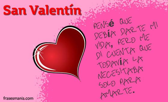 Imágenes de San Valentin, tarjetas con frases de amor para