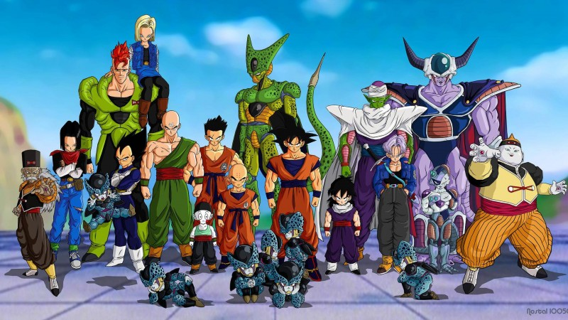 Heróes y villanos de Dragon Ball Z hasta Celula