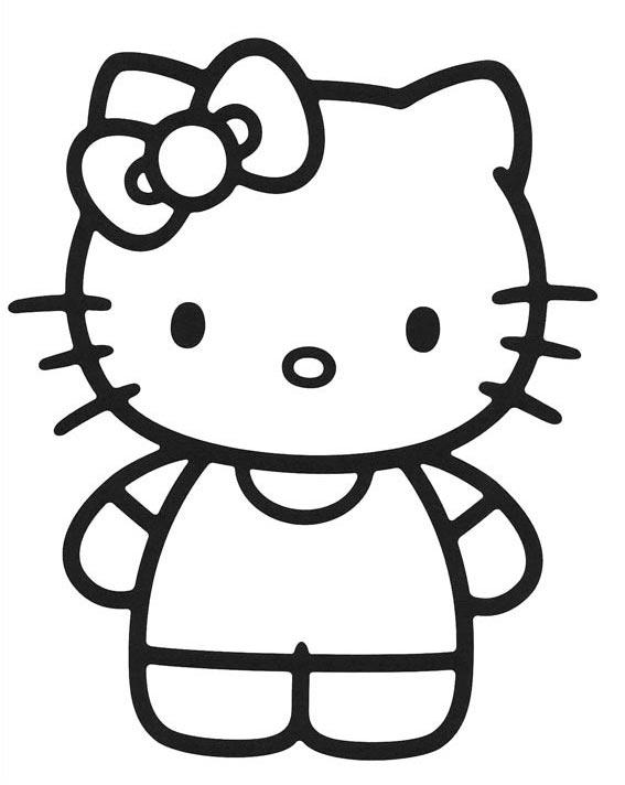 18 Dibujos O Imgenes De Hello Kitty Para Colorear