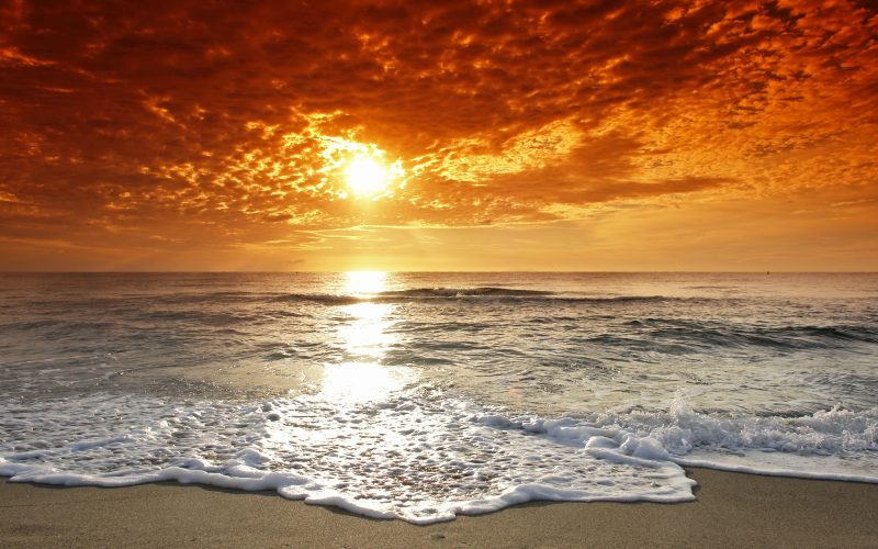 playa-al-atardecer-wallpaper