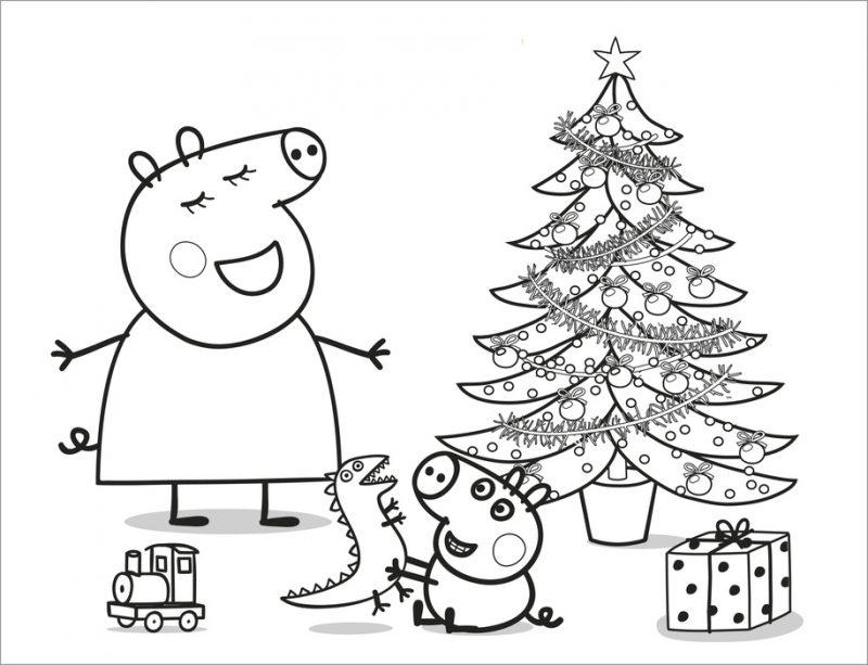 04-dibujo-para-colorear-de-peppa-pig-navidad