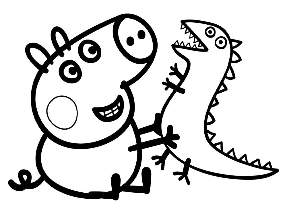 Imagenes De Niños Pintando Para Colorear: Dibujos Para Colorear De Peppa Pig