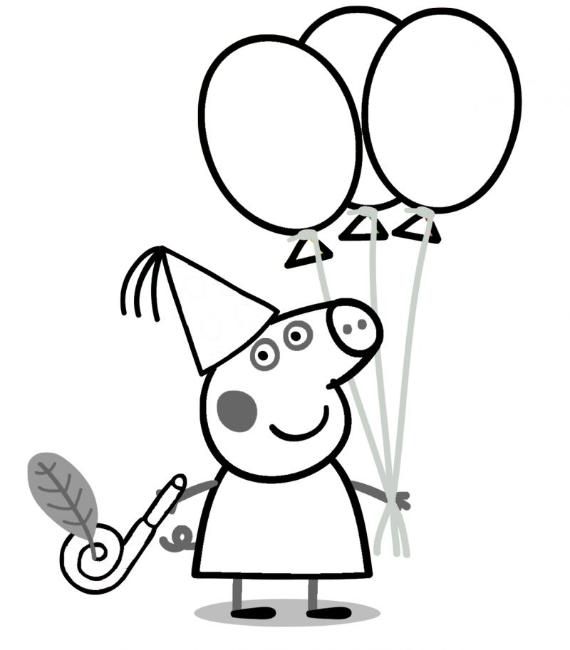 Dibujos para colorear de peppa pig for Peppa pig coloring pages