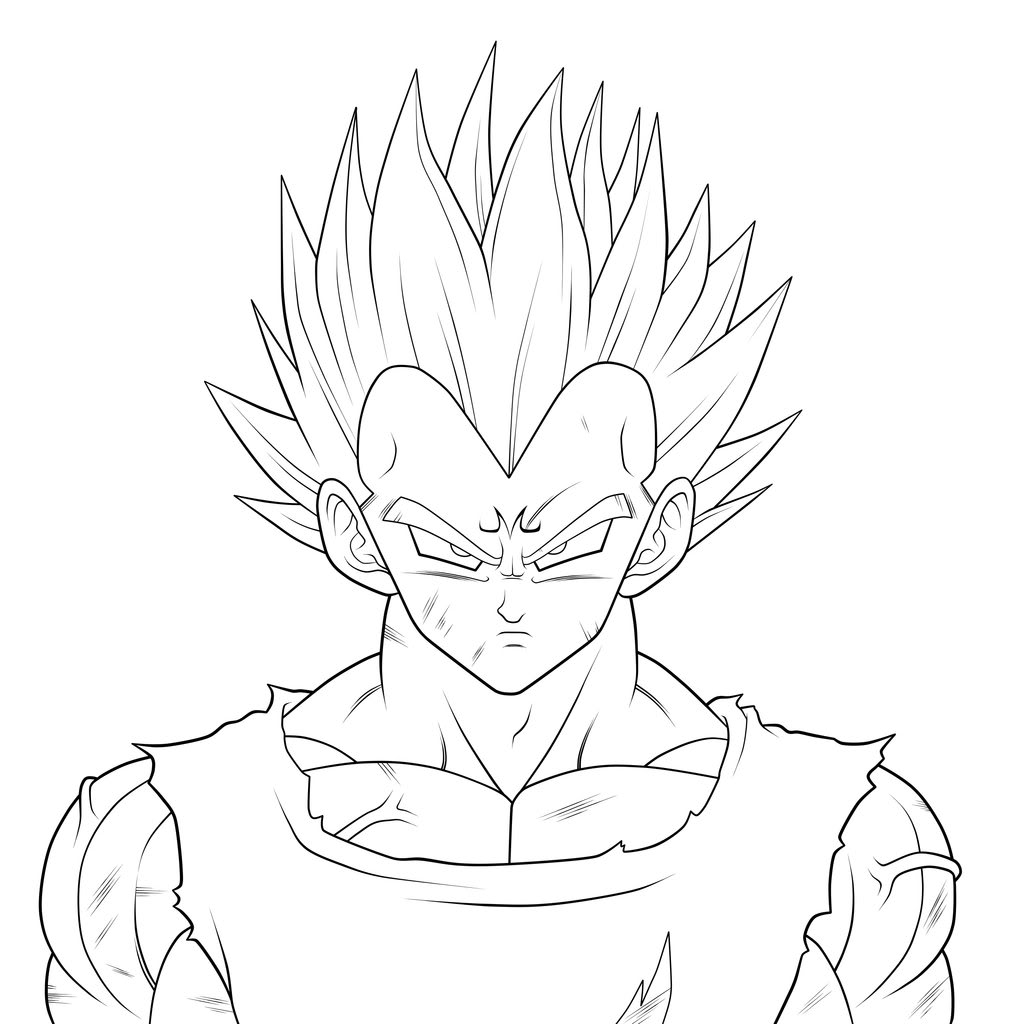 Line Drawing Hair : Dibujos para colorear de dragon ball z