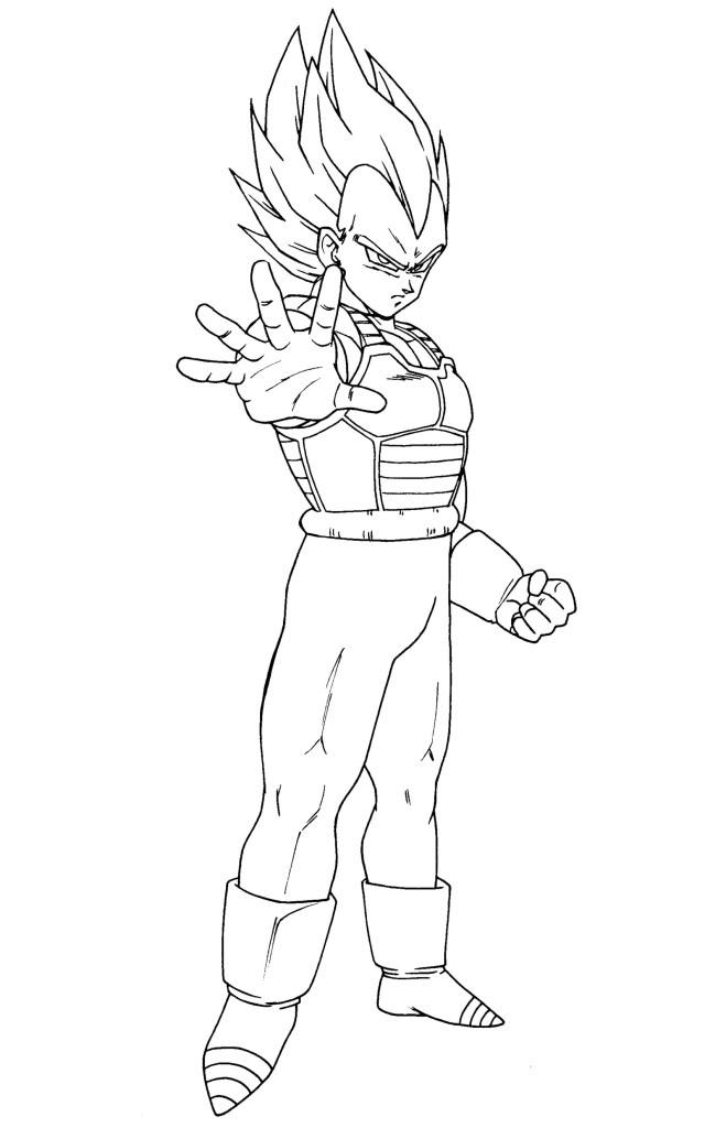Dibujos-para-colorear-de-Dragon-Ball-Z-02-vegeta