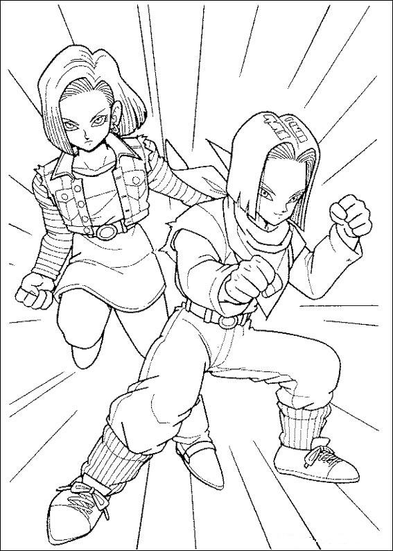 Dibujos-para-colorear-de-Dragon-Ball-Z-Androides
