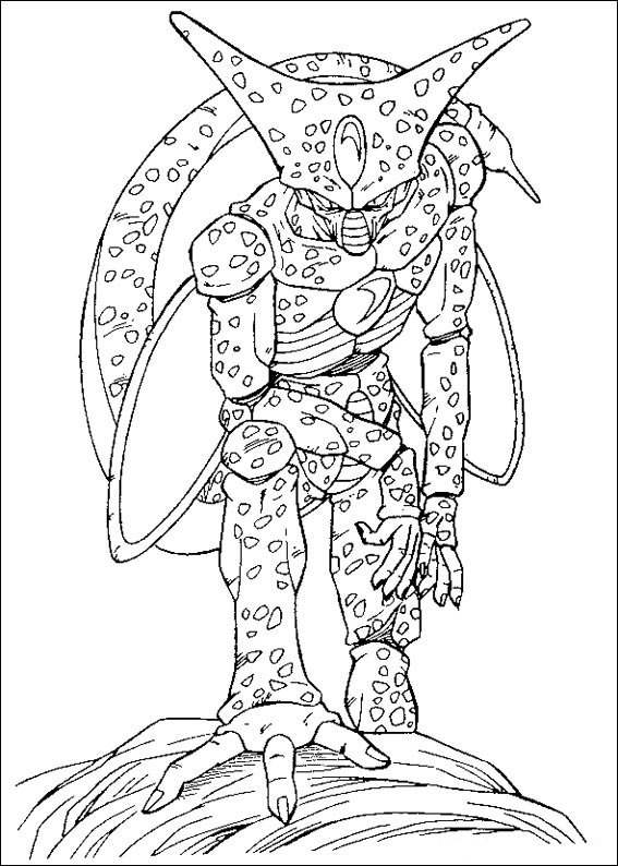 dragon ball z goku coloring pages - dibujos para colorear de dragon ball z