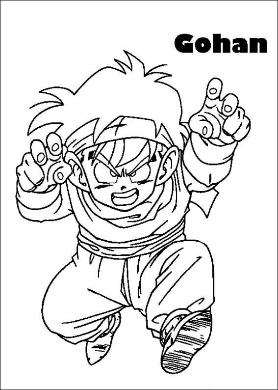 Dibujos-para-colorear-de-Dragon-Ball-Z-Gohan