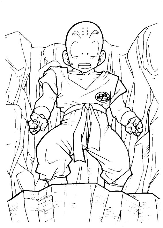 Dibujos-para-colorear-de-Dragon-Ball-Z-Krilin