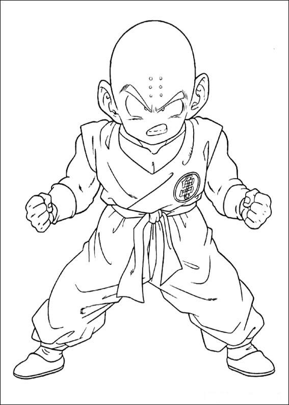 Dibujos-para-colorear-de-Dragon-Ball-Z-Krillin