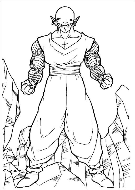 Dibujos-para-colorear-de-Dragon-Ball-Z-Piccolo-03