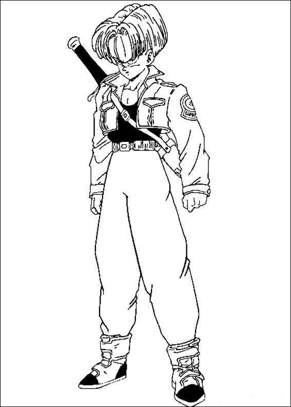 Dibujos-para-colorear-de-Dragon-Ball-Z-Trunks-futuro