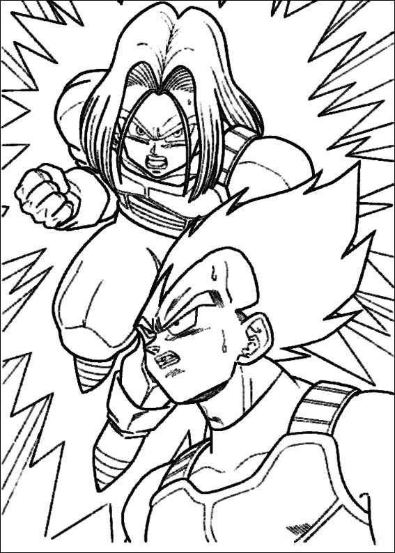 Dibujos-para-colorear-de-Dragon-Ball-Z-Trunks-y-Vegeta