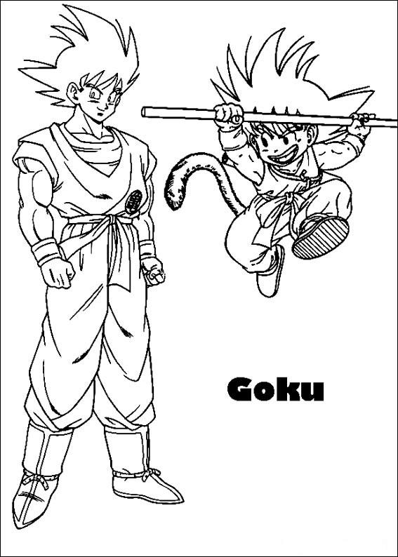 Dibujos-para-colorear-de-Dragon-Ball-Z-goku-grande-pequeno