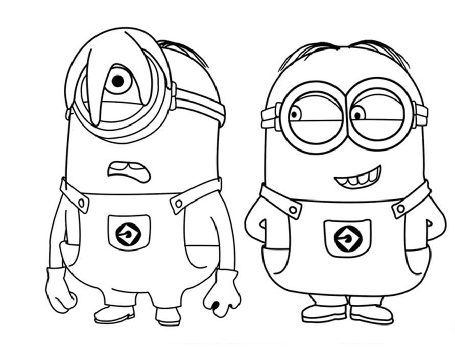 Dibujos Para Colorear De Los Minions Para Imprimir