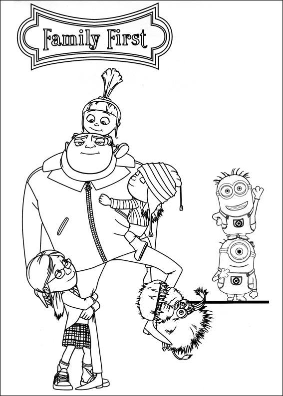 Dibujos para colorear de los Minions, pintar e imprimir