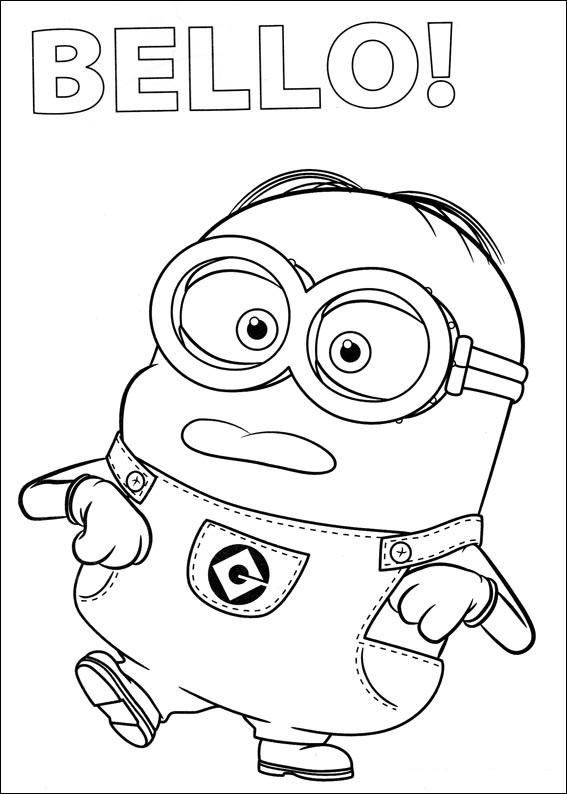Dibujos para colorear de los minions pintar e imprimir for Minion birthday coloring pages