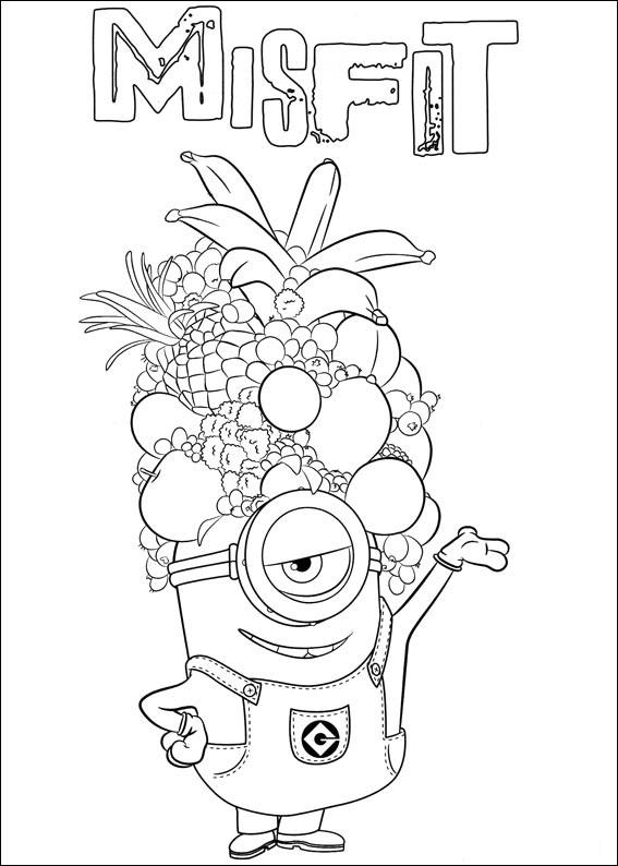 Dibujos para colorear de los minions pintar e imprimir for Immagini cattivissimo me da colorare