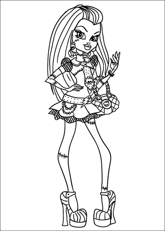 Descargar dibujos para colorear de Monster High imprimir