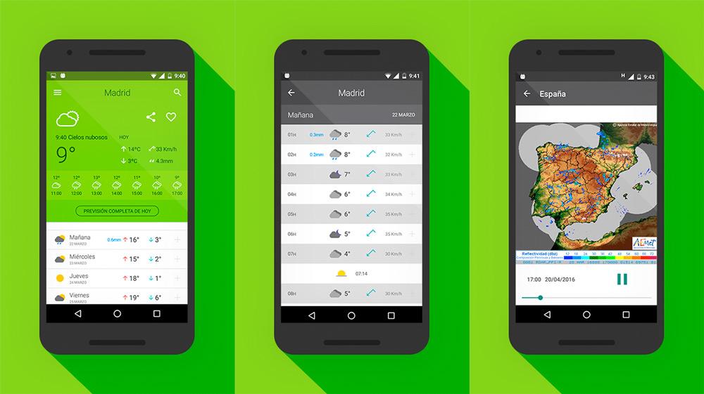 Aplicaci n del tiempo para android iphone y windows 10 for Aplicacion del clima