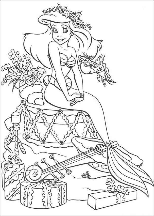 ariel-la-sirenita-disney-dibujos-para-colorear