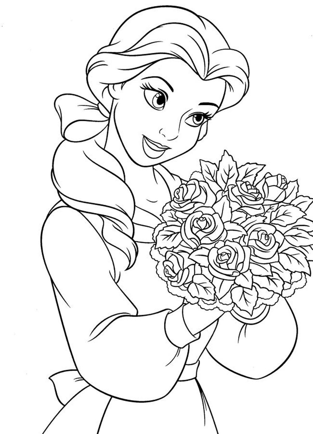 Dibujos de princesas disney para colorear e imprimir gratis - Dibujos de pared ...