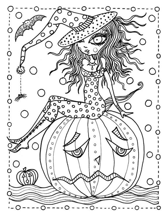 bruja-guapa-para-colorear-en-halloween