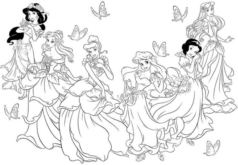 descargar-dibujos-princesas-disney-para-colorear