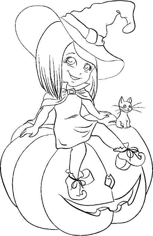 dibujo-bruja-guapa-halloween
