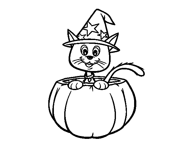dibujo-gato-sonriente-halloween