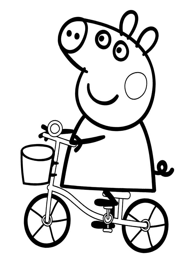 dibujo-para-colorear-de-peppa-pig-en-bicicleta