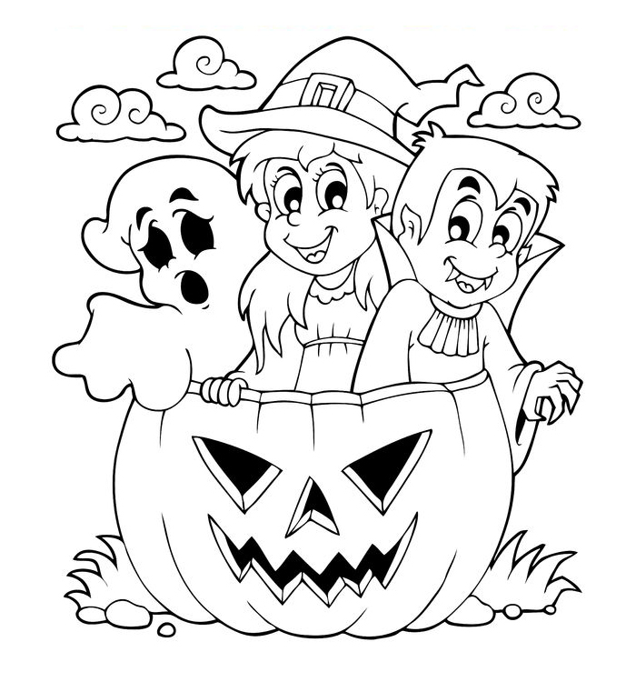 dibujos-bruja-fantasma-vampiro-halloween