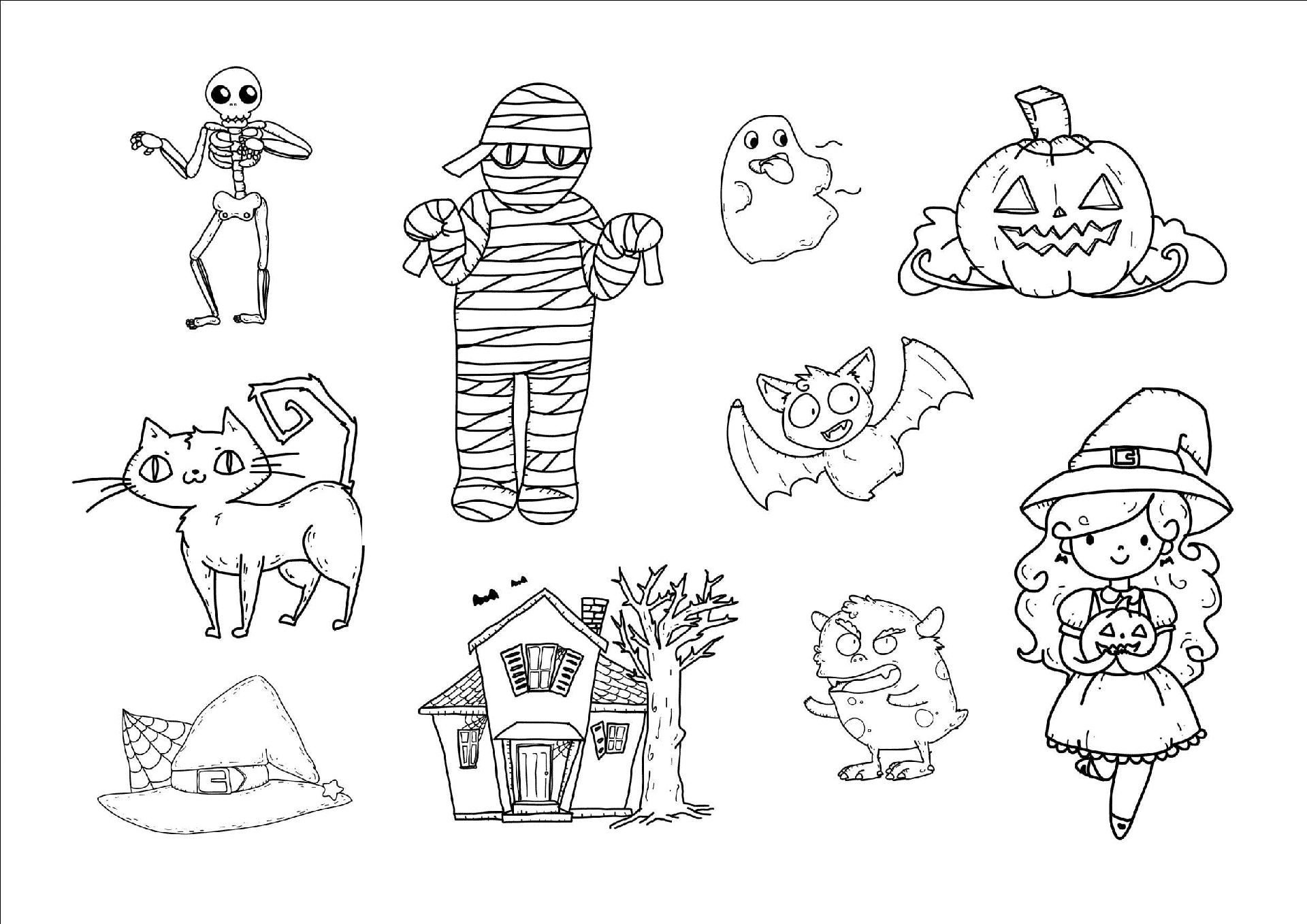 Dibujos Para Colorear Online: Dibujos De Halloween Para Colorear, Imágenes Halloween