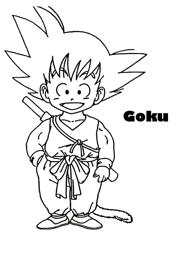 Dibujos para colorear de goku - Sangoku dessin ...