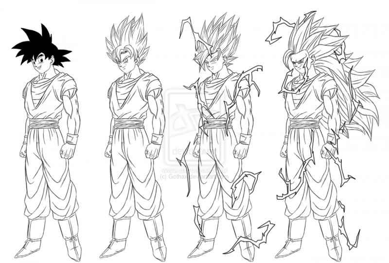 Dibujos Para Colorear Dibujos De Dragones Para Imprimir 4: Dibujos Para Colorear De Goku