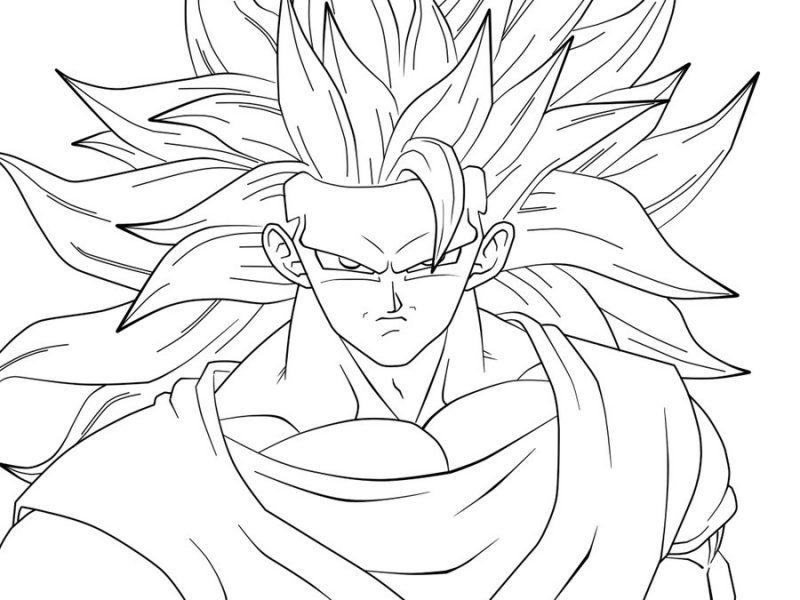 Dibujo De Goku Y Vegeta Para Imprimir Y Colorear: Dibujos Para Colorear De Goku