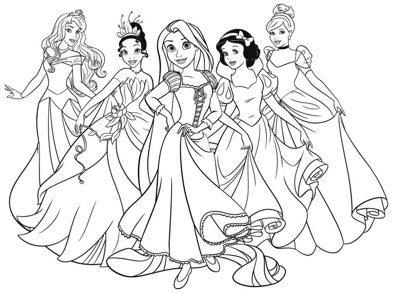 dibujos-princesas-disney-para-colorear-gratis