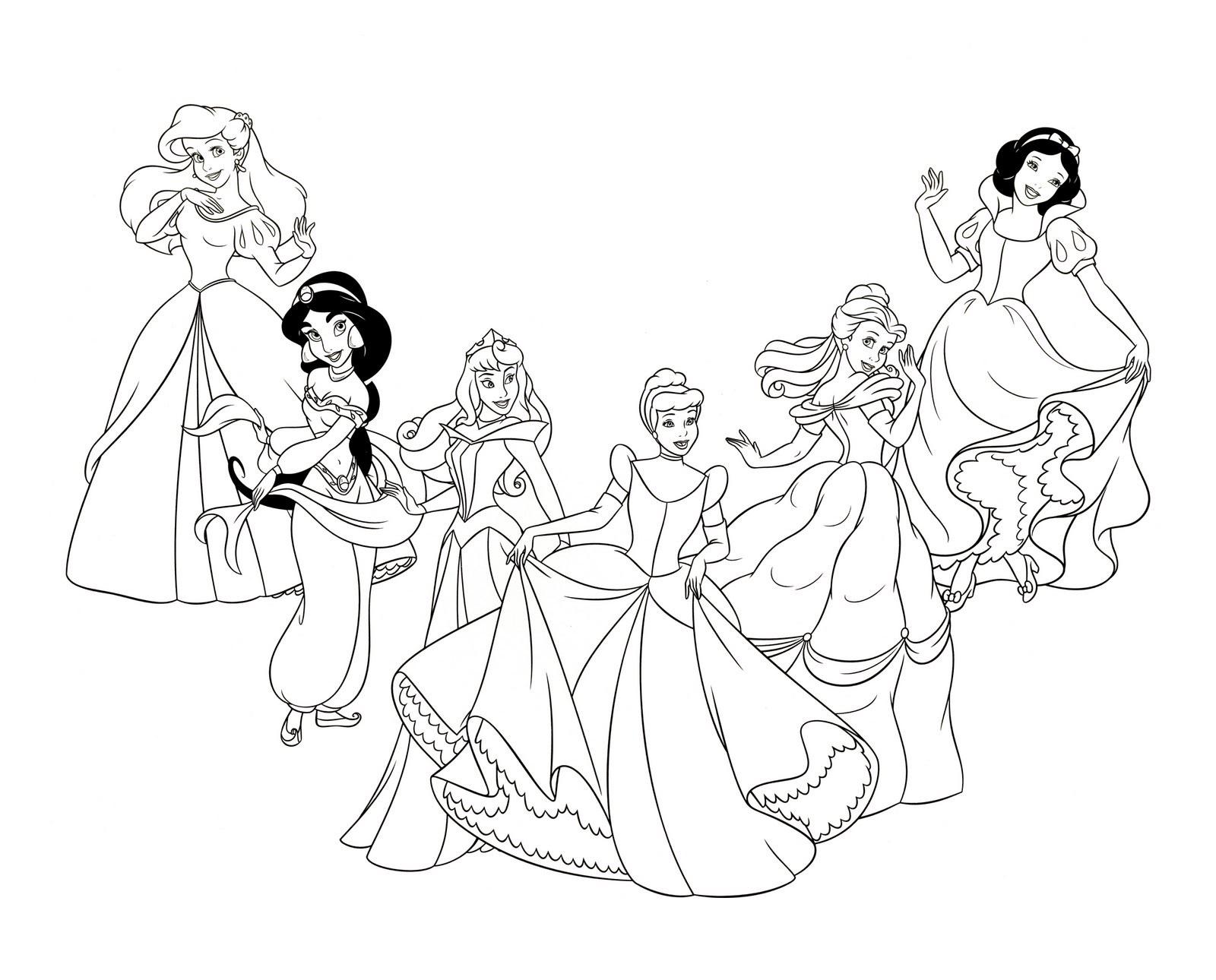 10 Dibujos Para Colorear De Disney Princesas Bebes: Dibujo Disney. Fabulous Dibujos Para Colorear Disney