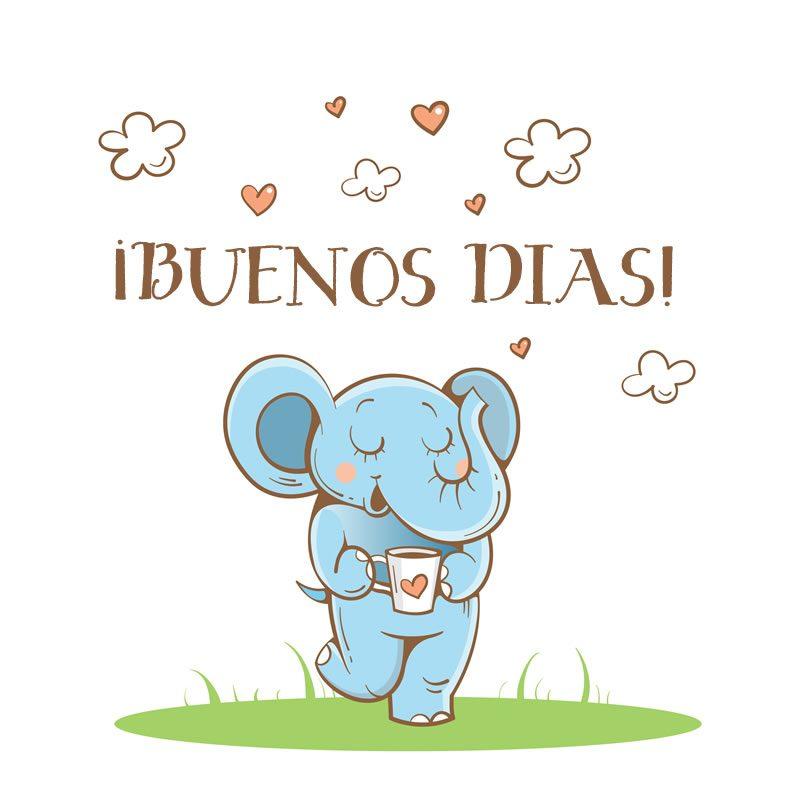 elefante-con-buenos-dias