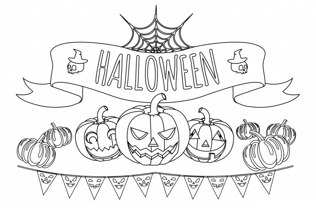Dibujos Para Colorear De Calabazas De Halloween Para Imprimir