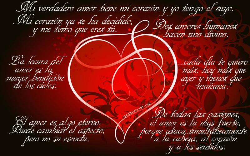 Frases Románticas De Amor De Corazón Para Dedicar: Imágenes De Amor Con Frases Para Dedicar