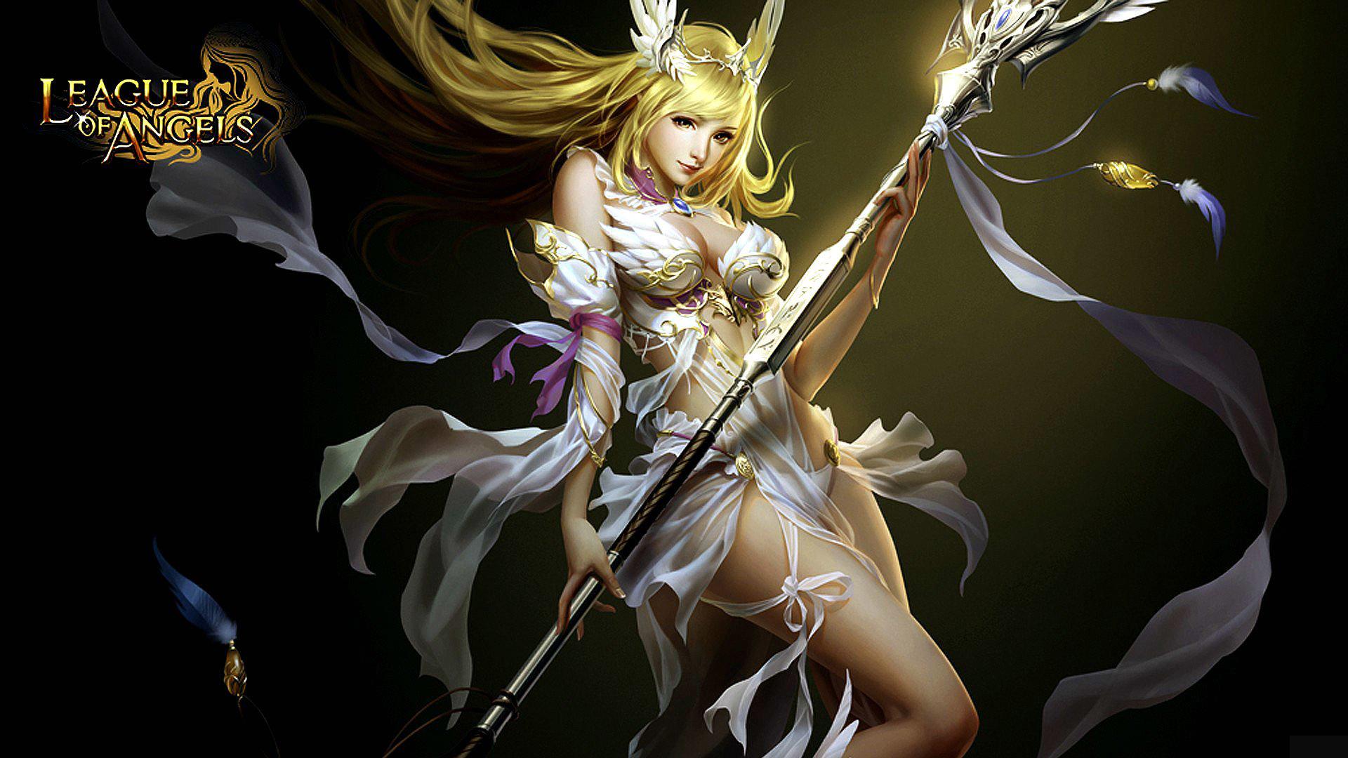 Iphone wallpaper los angeles - League Of Angels Wallpapers Angel Warrior Fantasy Wallpaper