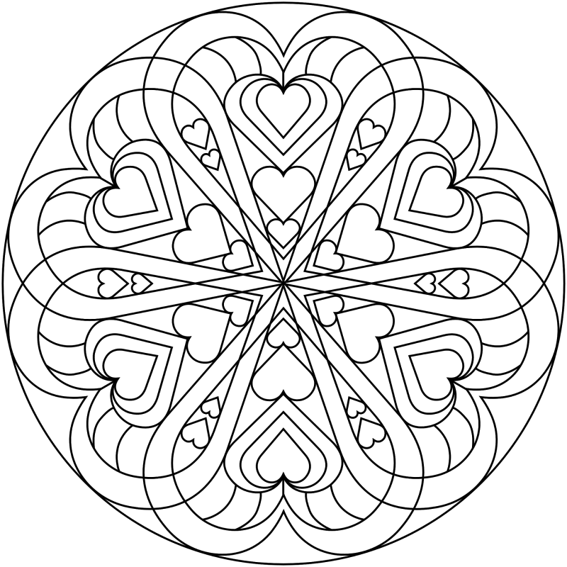 beautiful free valentines coloring pages - photo#10