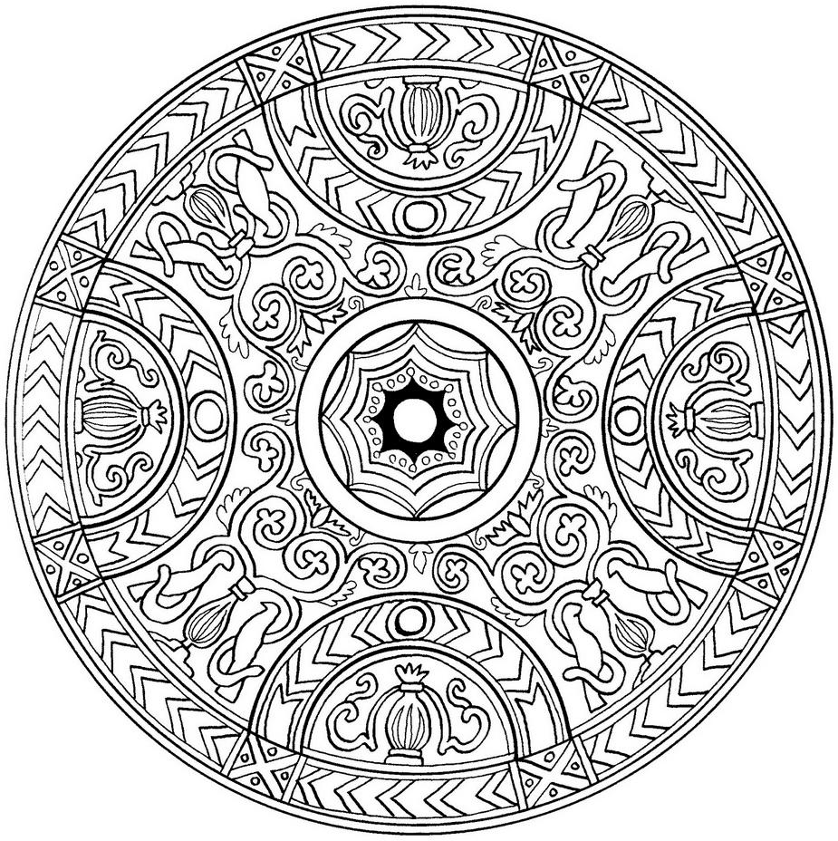 M ndalas para colorear dibujos mandalas para imprimir - Mandala beau et difficile ...
