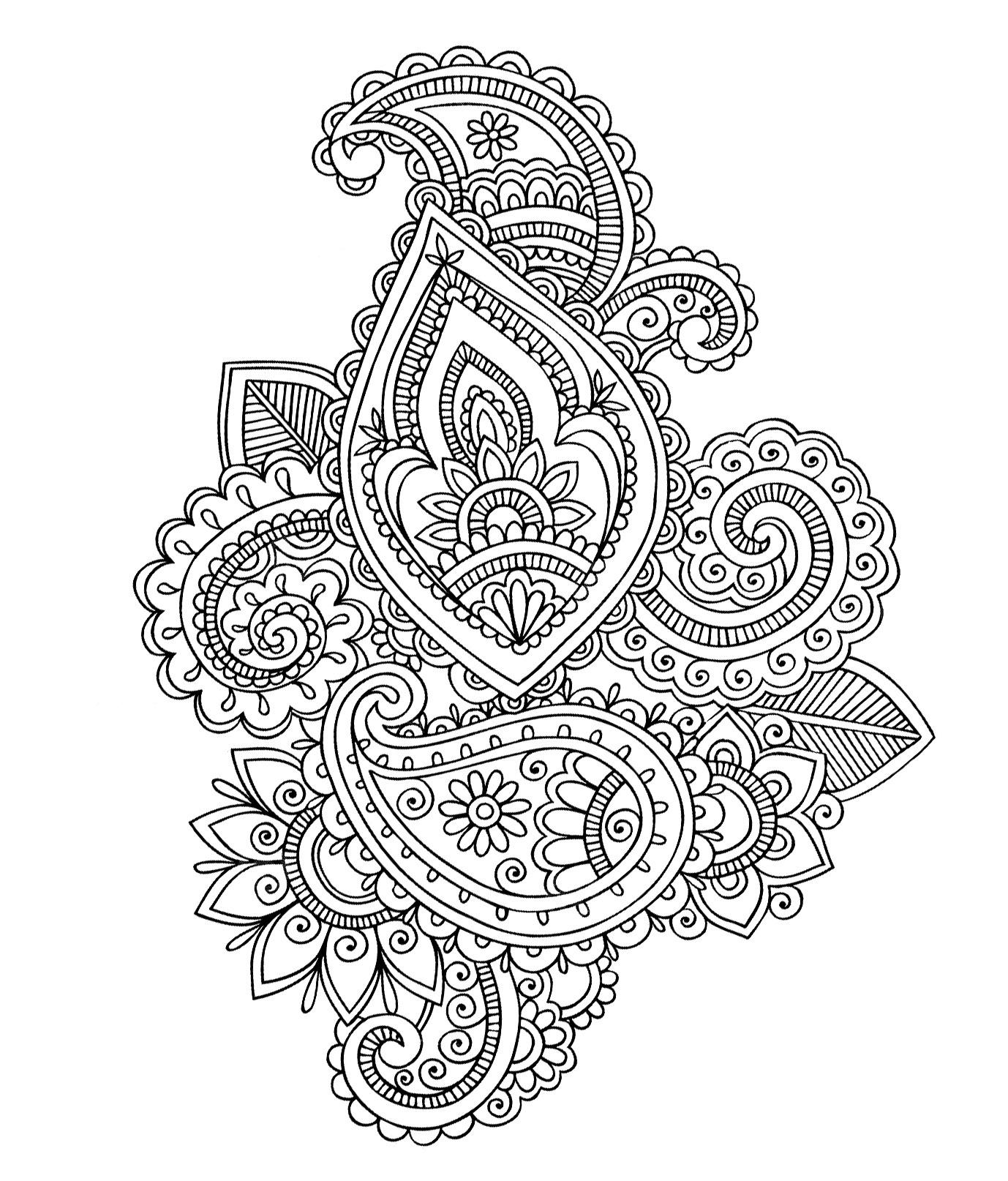 Mandala Para Colorear Om. Paginas Complejas Para Colorear Para ...