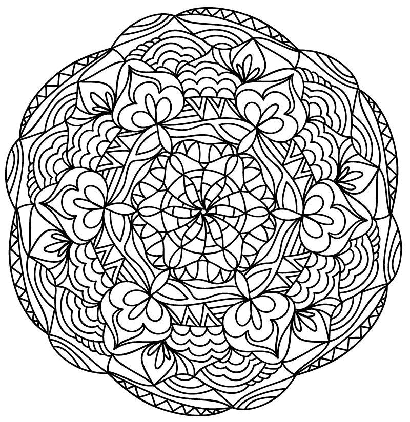 Único Mandala Para Colorear Imprimible Colección de Imágenes ...