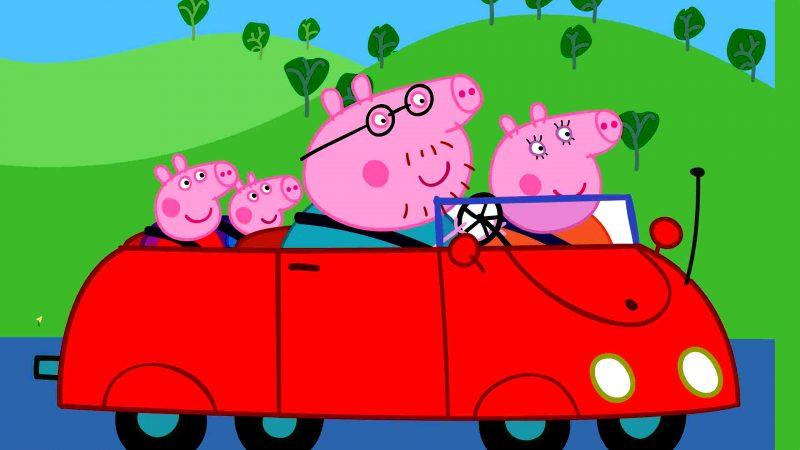 peppa-pig-coche-familia-fondos-de-pantalla-hd