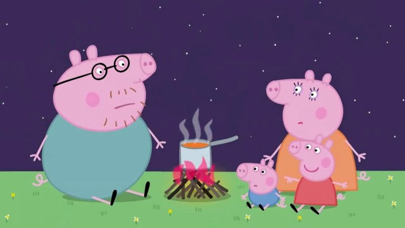 peppa-pig-de-acampada-con-su-familia-imagenes-gratis